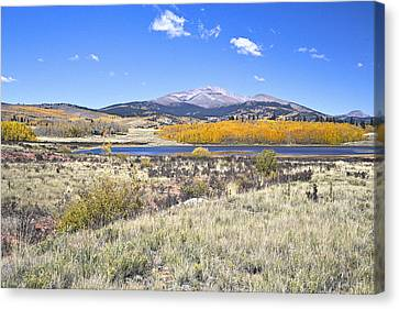 Canvas Print featuring the photograph Fall Colors Fairplay Colorado by James Steele