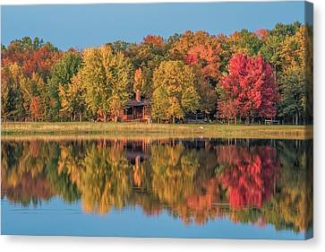 Fall Colors In Cabin Country Canvas Print