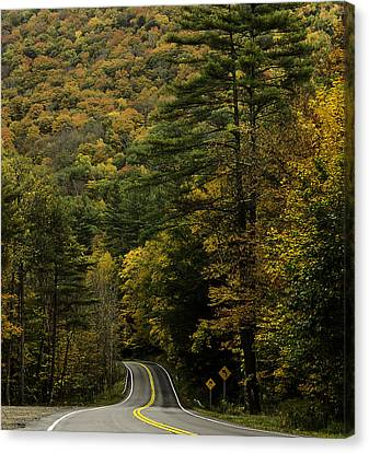 Fall Colors On Mohawk Trail Near Charlemont Canvas Print