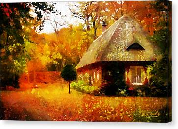 Canvas Print featuring the painting Fall Colors by Wayne Pascall
