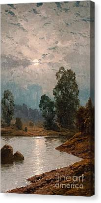 Moonlit Night Canvas Print by Celestial Images