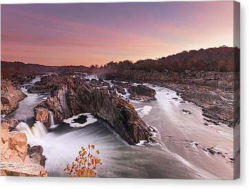 Fall Comes To Great Falls Canvas Print