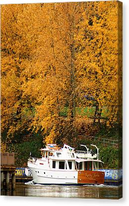Canvas Print featuring the photograph Fall Cruise by Erin Kohlenberg