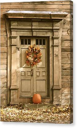 Traditional Fall Decor In New England Canvas Print