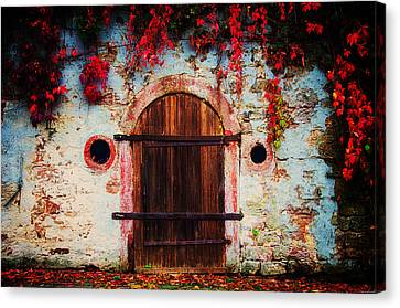 Fall Door Canvas Print by Ryan Wyckoff