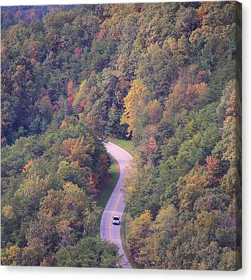 Pleasure Driving Canvas Print - Fall Drive In The Smokies by Dan Sproul