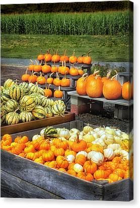Fall Farm Stand Canvas Print by Carolyn Derstine