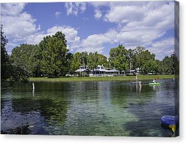 Dunnellon Canvas Print - Fall Florida Afternoon Fun by Judy Hall-Folde