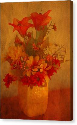 Fall Flower Bouquet Canvas Print by Dan Sproul