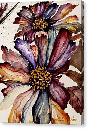 Fall Flower Colors  Canvas Print by Lil Taylor