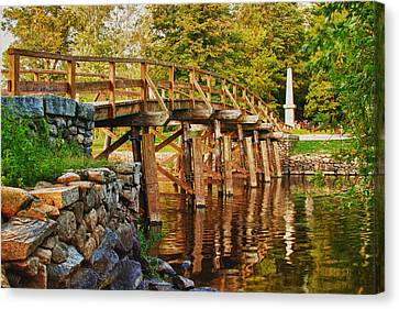 Fall Foliage Over The North Bridge Canvas Print by Jeff Folger