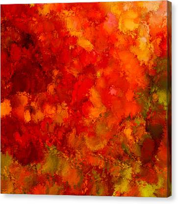 Fall Frolic Canvas Print by Lourry Legarde