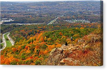Fall From Castle Craig Canvas Print by Stephen Melcher