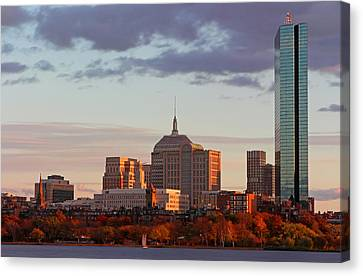 Charles River Canvas Print - Fall Glory In Boston by Juergen Roth