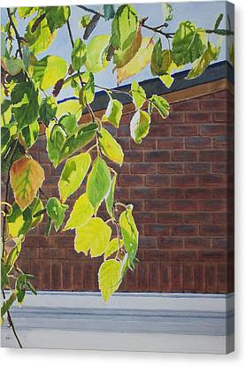 Canvas Print featuring the painting Fall by Helal Uddin