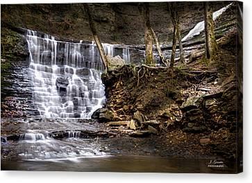 Fall Hollow Falls Natchez Trace Parkway Tennessee Canvas Print by Joe Granita