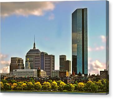 Fall In Boston Canvas Print by Maria Coulson