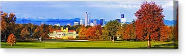 Fall In Denver Colorado Canvas Print by Teri Virbickis