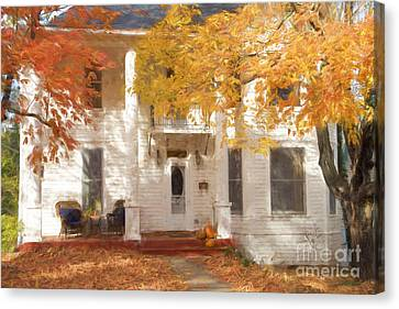 Fall In Eureka Springs Canvas Print by Elena Nosyreva
