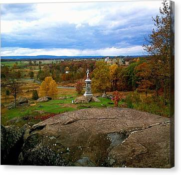 Canvas Print featuring the photograph Fall In Gettysburg by Amazing Photographs AKA Christian Wilson