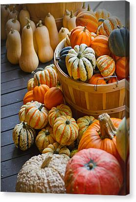Fall In - Indiana Harvest Basket Canvas Print by Michael Flood