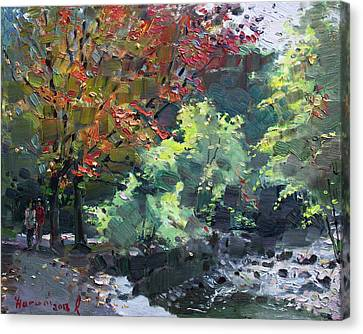 Fall In Mississauga Park Canvas Print by Ylli Haruni