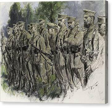 Fall In Norfolk Volunteers Canvas Print by Frank Gillett