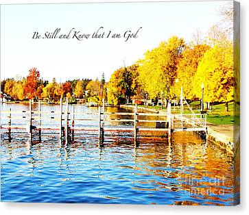 Fall In Skaneateles Ny Canvas Print by Margie Amberge
