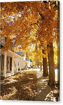 Fall In Small Town Canvas Print by Alexey Stiop