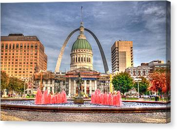 Canvas Print featuring the photograph Fall In St. Louis by Deborah Klubertanz