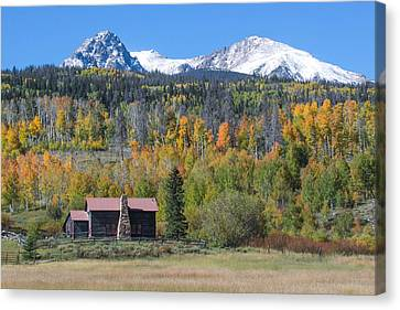 Fall In Summit County Canvas Print by Andrew Serff