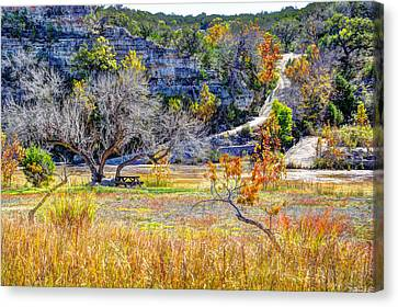 Fall In The Texas Hill Country Canvas Print by Savannah Gibbs
