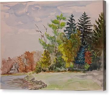 Fall Lake Lucille Canvas Print