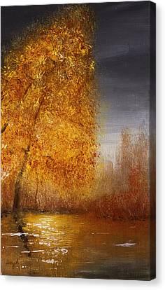 Fall Lake Reflections Canvas Print