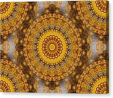 Canvas Print featuring the digital art Fall Leaf Pattern by Aliceann Carlton