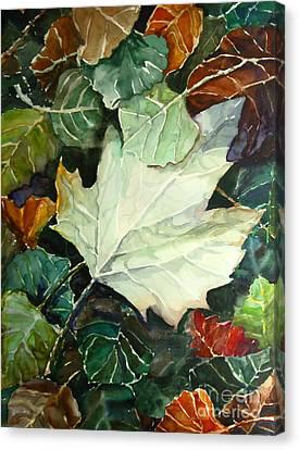 Fall Leaves Canvas Print by Jennifer Apffel