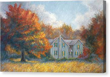 New England Autumn Canvas Print - Fall by Lucie Bilodeau