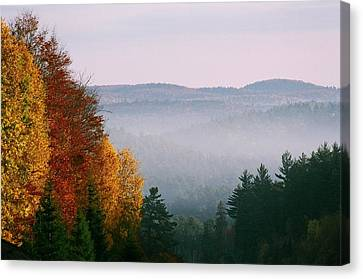 Canvas Print featuring the photograph Fall Morning by David Porteus