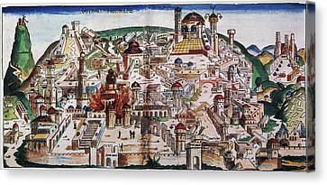 Medieval Temple Canvas Print - Fall Of Jerusalem And The Destruction by Granger