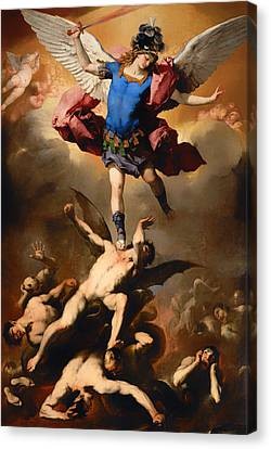 Fall Of The Rebel Angels Canvas Print by Mountain Dreams
