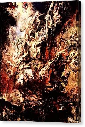 Fall Of The Rebel Angels Canvas Print
