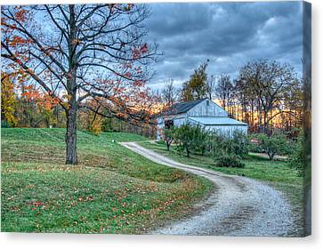 Canvas Print featuring the photograph Fall On The Farm by Brent Durken