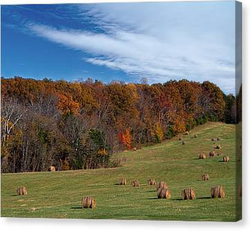 Canvas Print featuring the photograph Fall On The Farm by Jemmy Archer