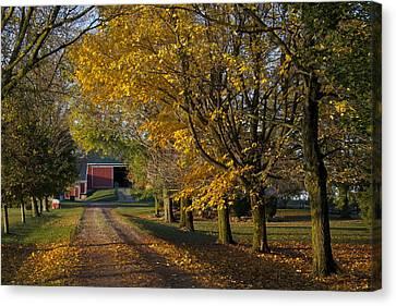 Fall On The Farm Canvas Print by John-Paul Fillion