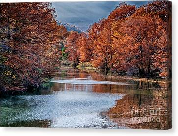 Fall On The Guadalupe Canvas Print by Ken Williams