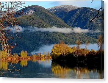 Fall On The Kootenai Canvas Print by Annie Pflueger