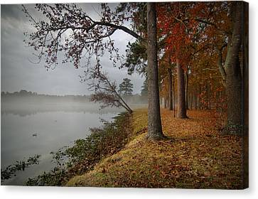 Fall On The Lake Canvas Print by Linda Unger