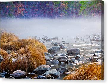Fall On The Merced Canvas Print by Bill Gallagher
