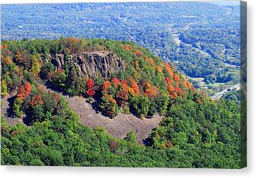 Fall On The Mountain Canvas Print by Stephen Melcher