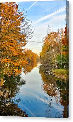 Canvas Print featuring the photograph Fall On The Red Cedar  by Lars Lentz